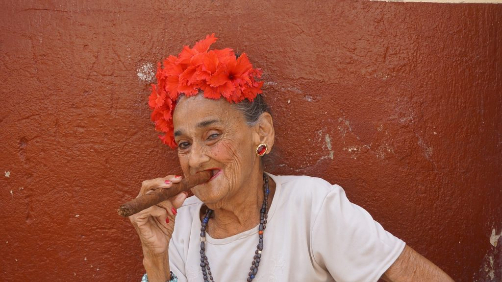 havana cigar, cigar, woman smoking, smoking woman, cigars, havana cuba, cuba, cuban, cuban cigar, old woman,